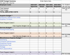 GSSF Budget Summary 3